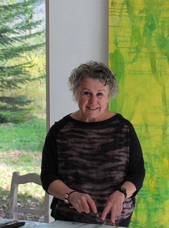 Greta Znojemsky im Atelier